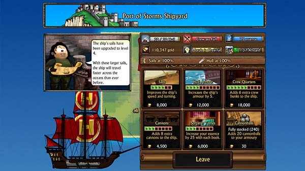 Swords and Sandals Pirates Screenshot